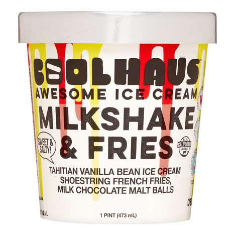 French Fry-Infused Ice Creams - Coolhaus is Now Selling Pints of Milkshake & Fries Ice Cream