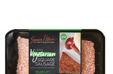 Meatless Square Sausages - Simon Howie's New Product Puts a Plant-Based Spin on a Scottish Staple