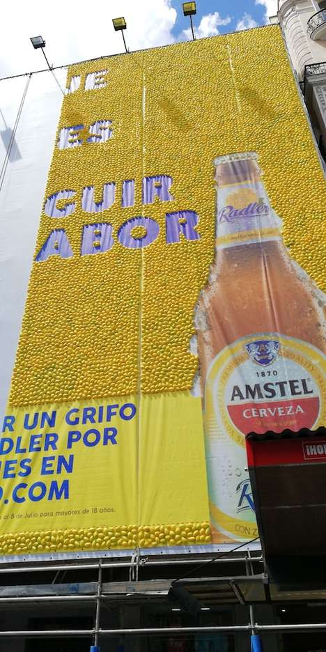 Lemon-Based Billboards - Amstel Radler Challenged People to Guess How Many Lemons Made Up Its Ad