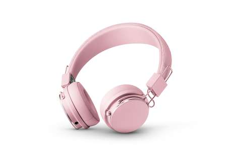 Pastel Pink Noise-Reducing Headphones