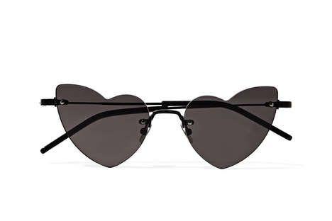 Sleek Tinted Heart-Shaped Glasses
