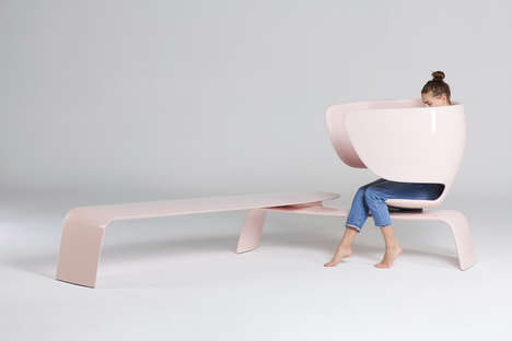 Private Nursing Benches - 'Heer' is an Ergonomically Designed Seating Solution for Breastfeeding