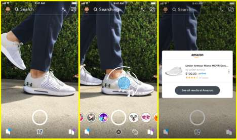 Shoppable In-App Searches - Snapchat 'Visual Search' Identifies Real-Life Objects to Buy on Amazon