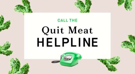 Plant-Based Eating Hotlines - Simple Feast's 'Quit Meat Helpline' Offers Resources and Support