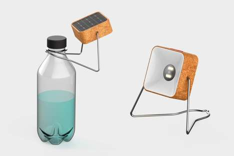 Bottle-Topping Solar Lamps