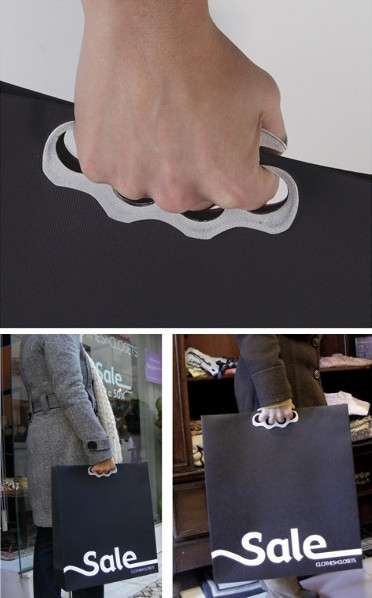 Badass Retail Promotions - 'Clothes in Closets' Boast Shopping Bags With Brass Knuckles