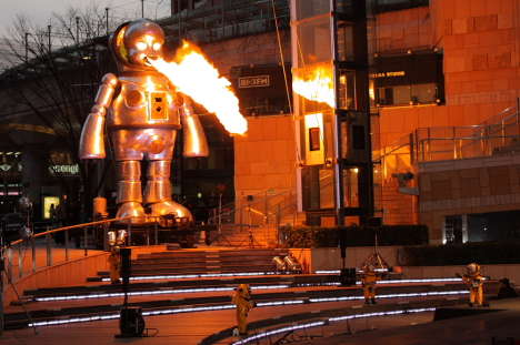 Huge Fire-Breathing Robots