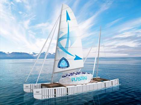 Crazy Recycled Catamarans - 'Plastiki' Stays Afloat With 12,000 Plastic Bottles