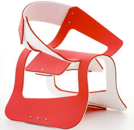 Curvaceous Flat-Pack Furniture
