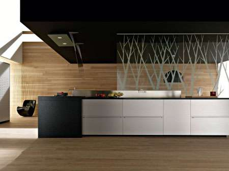 Eco Tech Kitchens - 'Artematica Multiline Titanium' Fascinates With Eco-Fire