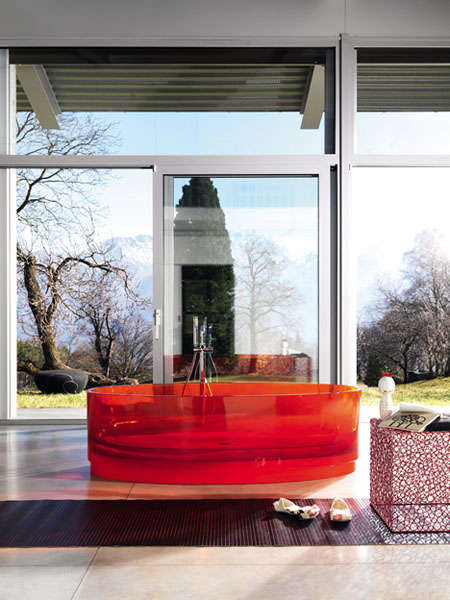 Candy Colored Bathtubs – The Fiberglass 'Jolie' Tub Is Vibrant Yet See-Through