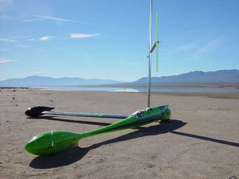 Wind-Powered Speedsters - The Greenbird Breaks the Land Speed Record at 126.1 MPH