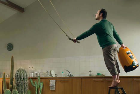 Daredevil Renovations - Totalgaz Ads Illustrate Extreme Home Renos