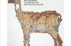 Interactive Guerrilla Campaigns - WWF Shows Where Your Coin Goes With Animal Drawings