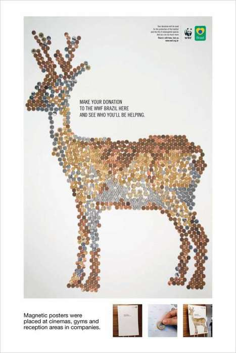 WWF Shows Where Your Coin Goes With Animal Drawings