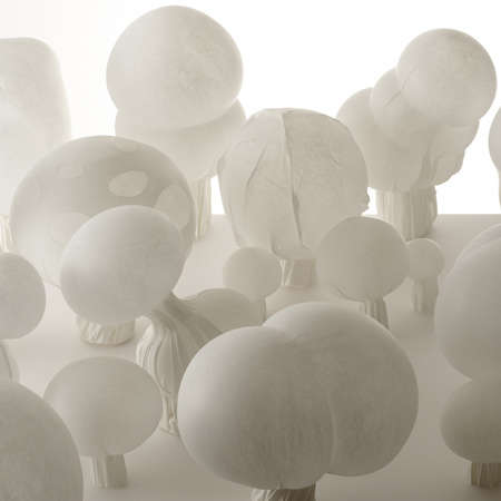 Nendo 'Blown Fabric' Produces Lighting That Mimics Glass