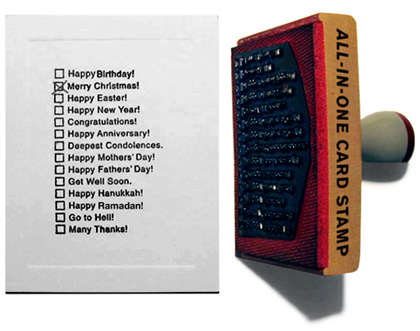 One-Step Greeting Cards - All-In-One Card Stamp Saves Time, Money and Hassle