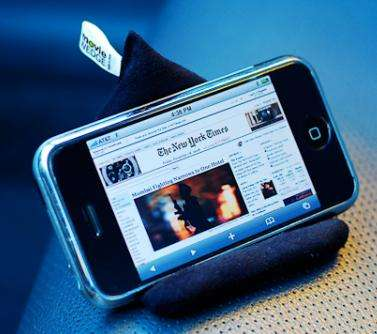 Beanbag Gadget Stands - The 'MovieWedge' is Perfect for iPhone, iPod, PSP, & Zune