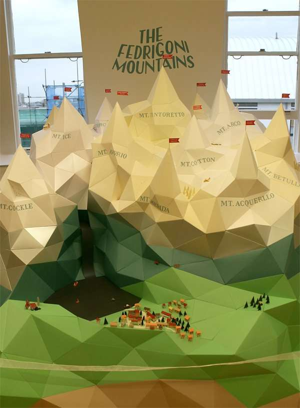 Arco Design Fedrigoni.Papercraft Mountain Ranges The Fedrigoni Mountains By