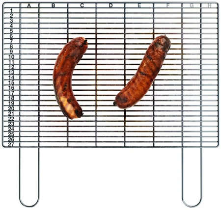 Spreadsheet BBQ Grills - The 'Gridus' Barbecue Grid From Art Lebedev