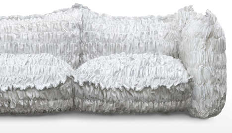 Crumpled Paper Seating - The 'Cloud' Sofa Turns A New Page In Couch Design