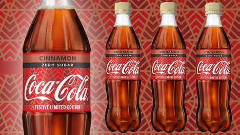 Seasonal Cinnamon Sodas - The Coca-Cola Zero Sugar Cinnamon is Festively Refreshing