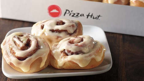 Exclusive Cinnamon Roll Desserts - The Crafted by Cinnabon Mini Rolls are Available at Pizza Hut