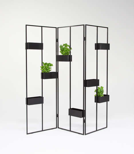 Modular Plant Stands - The Verso Vertical Plant Stand Works as a Natural Partition