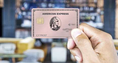 Luxury-Focused Gold Credit Cards - The American Express Pink Gold Credit Card Looks Stunning
