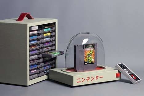 Cartridge-Displaying Gamer Consoles