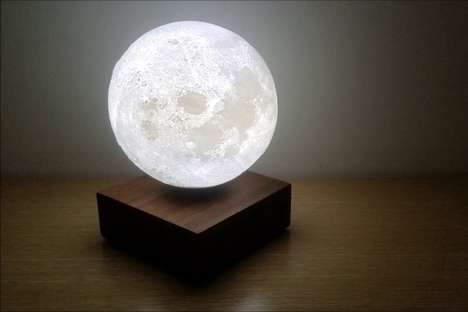 Levitating Lunar Lamps - The 'Levimoon' by Coocepts Brings the Moon into Any Room
