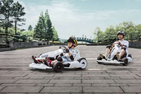 All-Ages Electric Go-Karts - The Segway Ninebot Gokart Has a Top Speed of 15mph