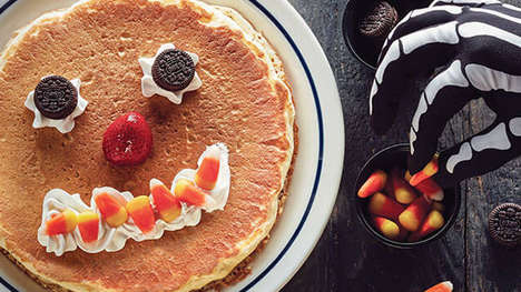 Spooky Free Pancake Promotions - The IHOP Scary Face Pancake is Free for Kids Under 12 on Halloween