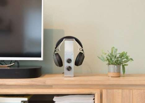 Industrial Audiophile Headphone Accessories - The Kubuni Headphone Stand Offers Customized Control