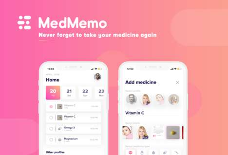 Medicinal Reminder Apps - 'MedMemo' Prevents Users from Forgetting Essential Medication Doses