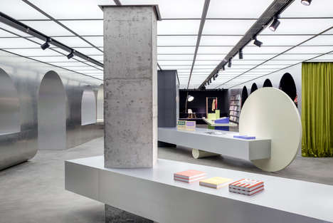 Sleek Design-Forward Bookstore Interior - Alberto Caiola Creates an Elegant Ambience for Harbook