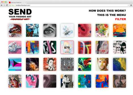 Social Artwork-Sending Platforms - 'Send Your Friends Art' Turns Your Photos into Personalized Art