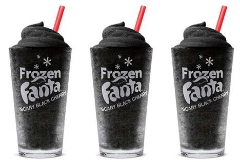Blackened QSR Drinks - The Burger King Scary Black Cherry Frozen Fanta Drink is Seasonally Spooky