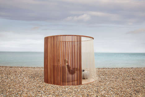 Fringed Meditation Pods - Inhere's Pod Provides a Semi-Private Space for Meditating in Public