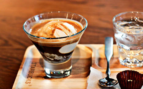 Tasty Inclusive Affogato Menus - Starbucks Experiments with the Ultimate Coffee and Ice Cream Combo