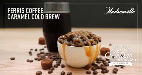 Cold Brew-Flavored Ice Creams - Hudsonville & Ferris Coffee's Collab Boasts Cold Brew Ice Cream