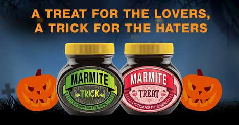 Spooky Condiment Packaging - Marmite Launched Limited-Edition Trick and Treat Packages for Halloween