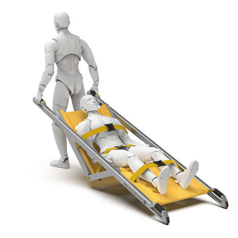 Single-Person Operation Stretchers - The Conceptual 'Just One' Stretcher Speeds Up Rescues