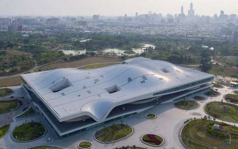 Sizable Wavy-Roofed Arts Centers - Mecannoo's Performing Arts Facility Spans 141,000 Square Meters
