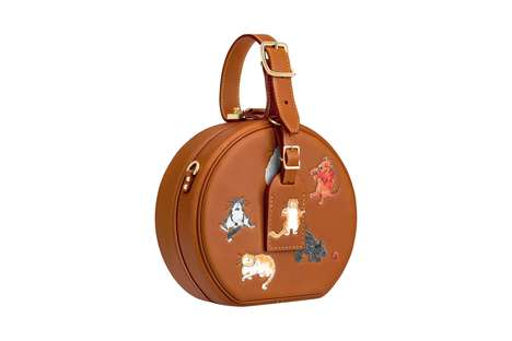 Cat-Adorning Luxe Handbags