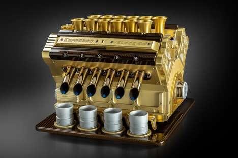 Exquisite Engine-Inspired Espresso Machines