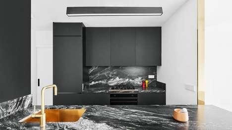 Elegant Black-and-White Interior Spaces