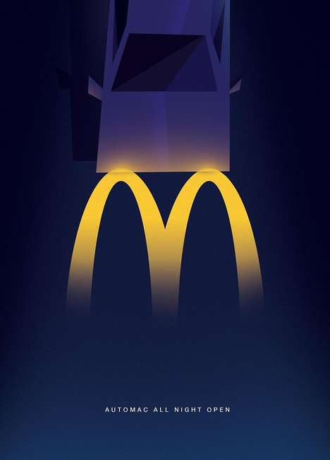 Minimalist Fast Food Ads - This McDonald's Campaign Highlights the Restaurant's Hours of Operation