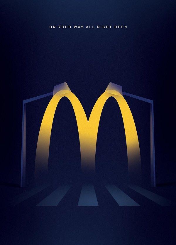 Minimalist Fast Food Ads
