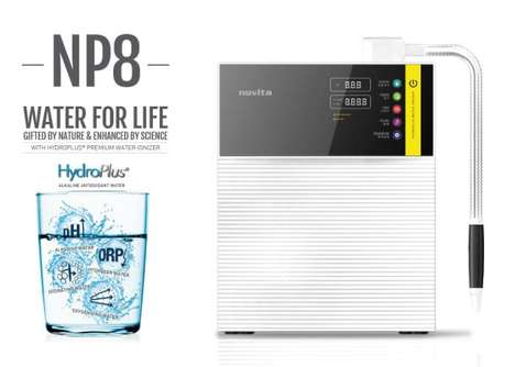 Alkaline Antioxidant Water Purifiers - The HydroPlus NP8 Water Purifier Ionizes H2O and More